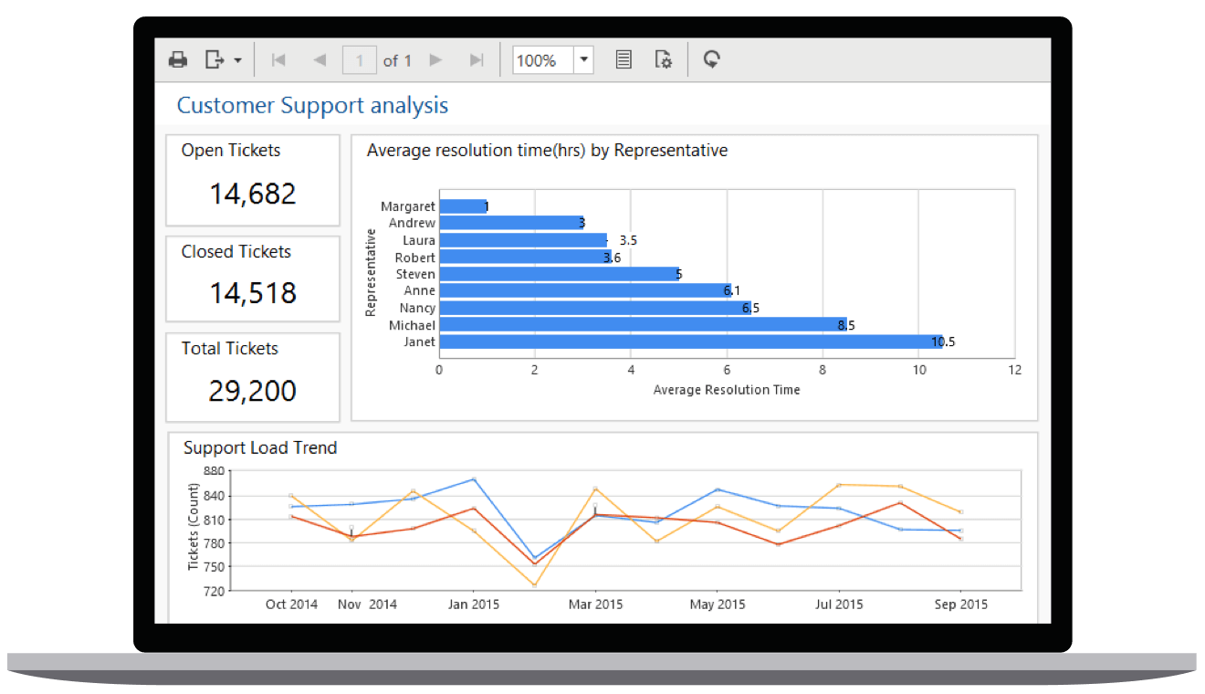 Embedded Reporting Tool WPF Report Viewer showcase